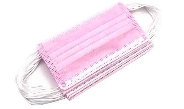 маски медицинские розовые