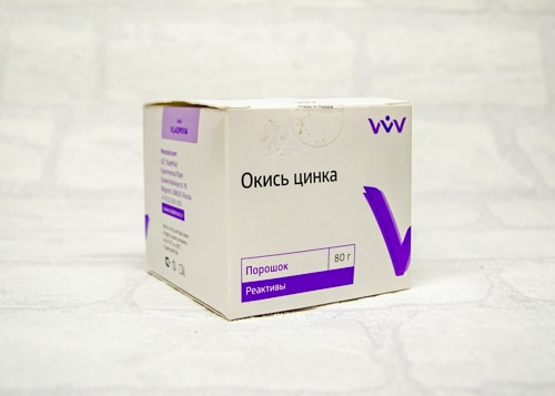 Окись цинка Zinci oxydum, 80 г
